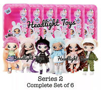 Complete Set of 6 Series 2 Na Na Na Surprise Fashion Dolls Pom Purses In Hand