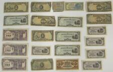 Lot 22 Japanese World War II WWII Occupation Paper Currency Notes Pesos Gulden