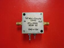Mini-Circuits ZFL-2000 Medium Power 10-2000MHz RF Amplifier. See test plot