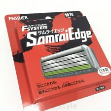 Feather F-System Samurai Edge Refill 8 Pieces Blades Safety Razor MADE IN JAPAN