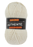 King Cole Authentic chunky cotton mix 100g balls 50% off RRP!