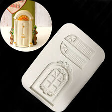 3D Fondant Cake Mold Baking Silicone Doors and Windows Shape Mould DIY Decor