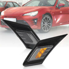 Smoked Lens LED Side Marker Turn Signal Light for 2013-up Subaru BRZ Toyota GT86