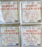 JACK DEMPSEY NEEDLE ART NURSERY QUILT BLOCKS- 4 CHOICES OF PRINT