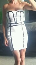 NWT Bebe white and black dress size 00 Orig. $74