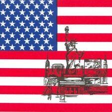 "50 Servietten 3-lagig 1/4-Falz 33 cm ""America"" Party Deko USA FSC®"