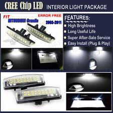 2x LED License Plate Lights Xenon White Lamps For MITSUBISHI Grandis 2003-2011