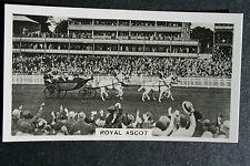 Royal Ascot vintage primi anni 1930 Foto Carta in buonissima condizione/EXC
