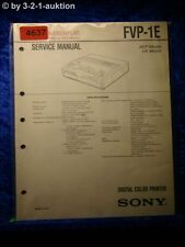 Sony Service Manual FVP 1E Digital Color Printer (#4637)