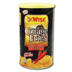Snack: Wise Cottage Fries Potato Chips - Hot & Spicy Flavour, 100g