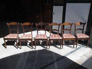 Gruppo di sei sedie Carlo X  - 1830 ca - buone condizioni - da restaurare