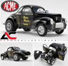 "ACME A1800915 1:18 1941 WILLYS GASSER STONE WOODS ""COOKIE"" BLACK LTD ED"
