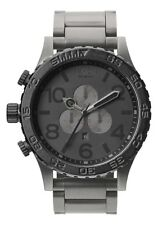 **BRAND NEW** NIXON 51-30 CHRONO MATTE BLACK MATTE GUNMETAL A0831062 NEW IN BOX!