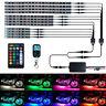 12pcs RGB LED Lights Strip Waterproof Flexible Motorcycle Car Light Kit Remote