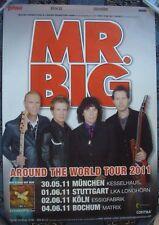 MR. BIG Poster Plakat Concert Tour 2011 rare rar Paul Gilbert Billy Sheehan