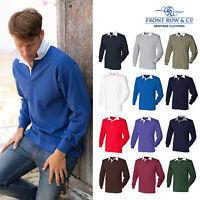 Front Row Cotton Classic Original Rugby Shirt (FR001) - Long Sleeve Plain Shirt