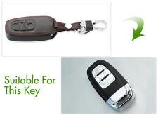 Leather Key Shell Case Car Key Bag Cover Protector for Audi a6l/a4l/a8l/q5/s5