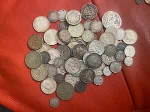 World Silver Coins 600 Grams Scrap Or Collect Check Description For Postage!!