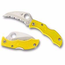 "Spyderco Ladybug3 Salt Folding Knife 1.88"" Serrated H1 Steel Blade FRN Handle"