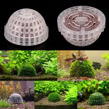 Transparent Aquarium Fish Tank Natural Media Moss Ball Live Plant Filter Decor