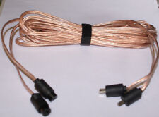 Bang  Olufsen Type Speaker Cables 2Pin DIN Male to Female 10ft pr NEW