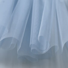 Light Pastel Baby Blue Soft Tulle Veiling Draping Fabric 150cm wide - by the m