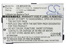 Battery For MITAC Mio A500, A501, A502 (p/n 338937010127, EM3T171103C12) 1200mAh