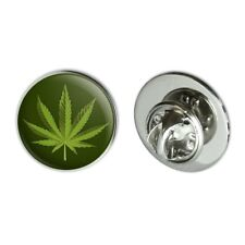 "Lapel Hat Pin Tie Tack Pinback Marijuana Leaf Design Cannabis Pot Metal 0.75"""