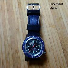 Steinhart White Shark dark blue vintage grained leather strap Cheergiant Straps
