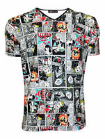 Designer Men's Unique Comic Strip Book Retro Classic Skull Print T-Shirt Top Tee