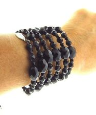 White House Black Market Crystal Glass Coil Bracelet
