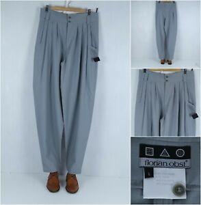 FLORIAN OBST Vintage Mens Grey Wool Dress Trousers Pants SIZE W34 L35, BNWT