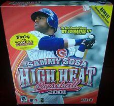 Sammy Sosa High Heat Baseball 2001, 3DO (PC, 2000) NISB