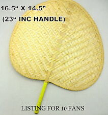 10 DELGHTFUL BAMBOO FAN ,BRILLIANT VALUE FOR FLORISTS & GIFTWARE TRADE, FREE P&P