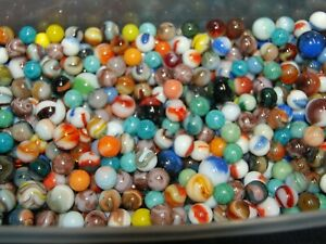 SPECIAL 1000 Marbles: Jabo - Champion Agate- Marble King  Nice Variety