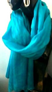 Kaftans / Accessory/100% Silk Scarves / Turquoise /Soft & Silky / Long/ RR$89.95