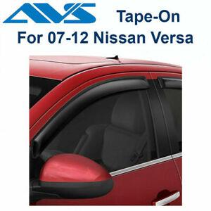 AVS Rain Guards 4Pc Tape-On Window Vent Visor For 2007-2012 Nissan Versa - 94009