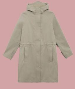 Ex M*S Goodmove Waterproof Hooded Longline Parka Size 8 - 20 (W15.25)