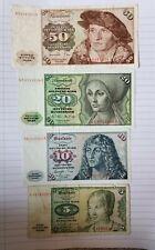 More details for germany: set of 4 german mark banknotes.