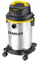 Stanley Wet/Dry Vacuum, 4 Gallon, 4 Horsepower, Stainless Steel Tank, NEW