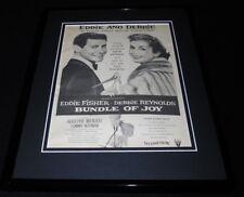 Bundle of Joy 1957 11x14 Framed ORIGINAL Vintage Advertisement Debbie Reynolds