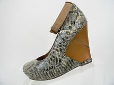 052444b4980 B. Makowsky Womens Snake Print Platform High Heels Wooden Wedge Shoes Size  8.5 M