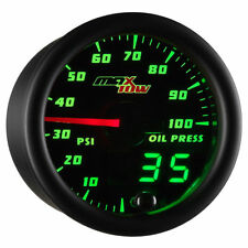 MaxTow 52mm Black Double Vision Electronic Oil Pressure PSI Gauge - MT-DV04