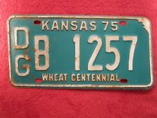 License Plate Car Tag 1975 Kansas Dg B 1257 [Z276]