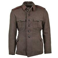 Genuine Bulgarian army wool jacket military-issue surplus uniform grey-brown
