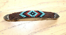 Western Barrette Hair Horsehair Beaded Handmade Fashion Style Horse Show Rodeo B