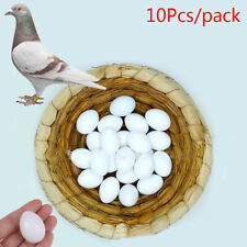 10Pcs White Solid Plastic Solid Pigeon Eggs Dummy Fake Eggs Hatching Supplies np