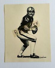 "Oakland Raiders Ken Stabler ""Landsman"" Print - Size 8"" x 10"""