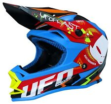 UFO Kids Youth Motocross Helmet Onyx 2019 Electroshock Large 53-54cm