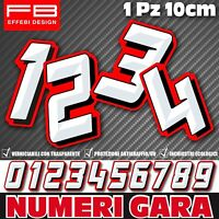Adesivi Stickers NUMERO GARA NUMERI Moto Honda Yamaha Auto Scooter Quad CIV SBK